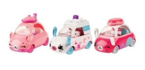 Kit Com 3 Carrinhos Shopkins Cutie Cars Chá Da Tarde