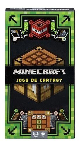 Minecraft Jogo De Cartas Português 100 Cartas 4 Suporte