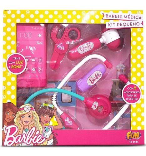 Brinquedo Kit De Medica Pequeno Infantil Da Barbie