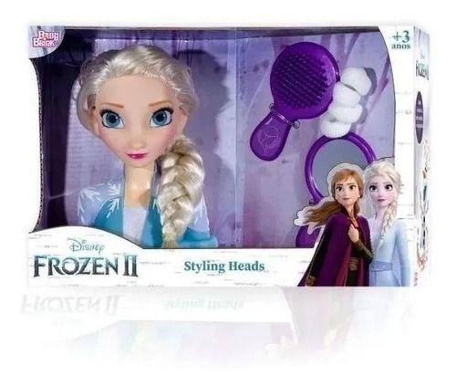 Boneca Elsa Frozen 2 Disney Faça Penteados Busto