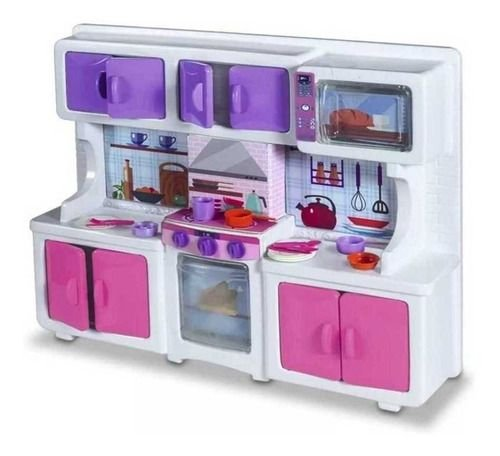 Cozinha Completa Com Microondas E Acessórios