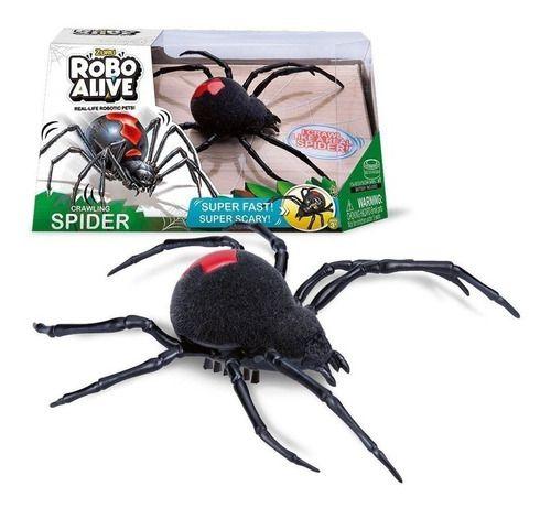 Brinquedo Eletrônico Robo Alive Aranha Anda Sozinha