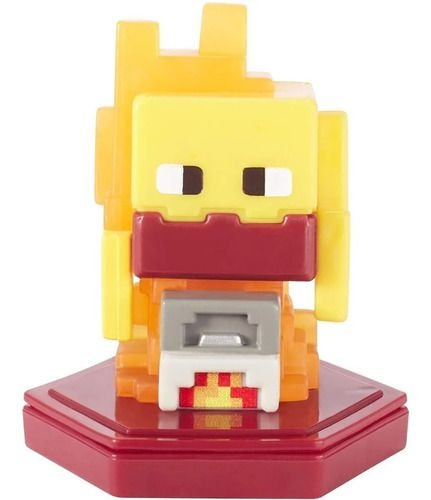 Mini Figura Minecraft Earth Smelting Blaze Chama