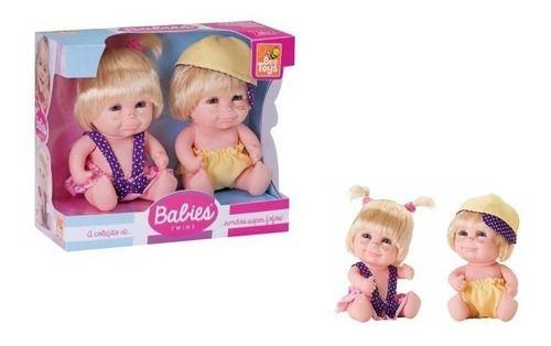 Boneca Babies Twins Gêmeos Lindos E Fofos C/ Sardas