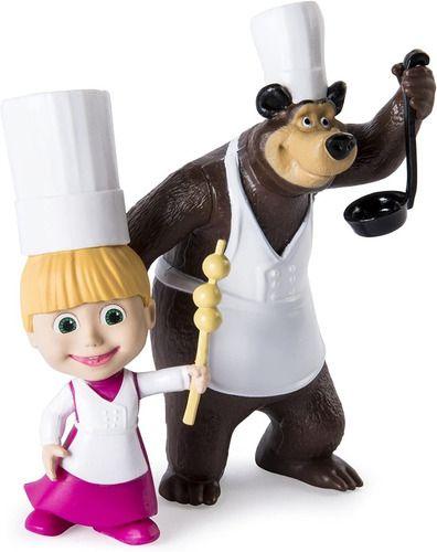 Boneca Masha E O Urso Chef De Cozinha Com Acessórios