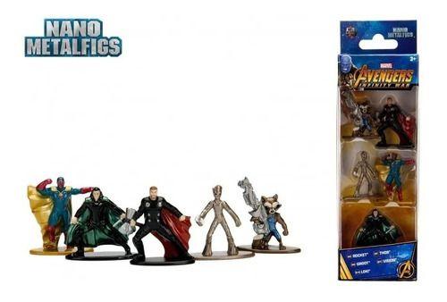 Kit 5 Nano Metalfigs Marvel Vingadores: Guerra Infinita