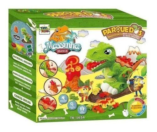 Parque Dos Dinossauros De Massinha E Moldes Cores Vivas