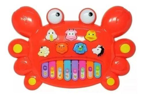 Piano Musica Com Animal Caranguejo Vermelho Com Som