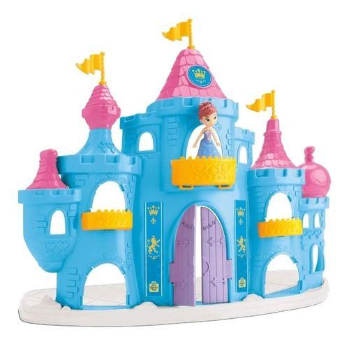 Castelo Completo Da Princesa Judy Boneca E Móveis Azul