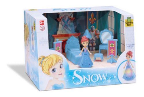 Moveis Home Quarto Princesa Snow Boneca Vestido Com Luz