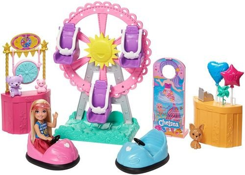Boneca Barbie Chelsea Família Parque Diversões Magico