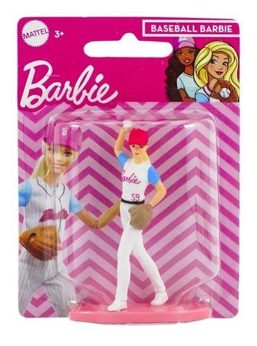 Bonequinha Barbie Mini Baseball Colecionável 7 Cm