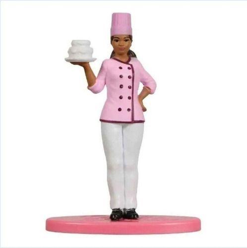 Bonequinha Barbie Mini Confeiteira Colecionável 7 Cm