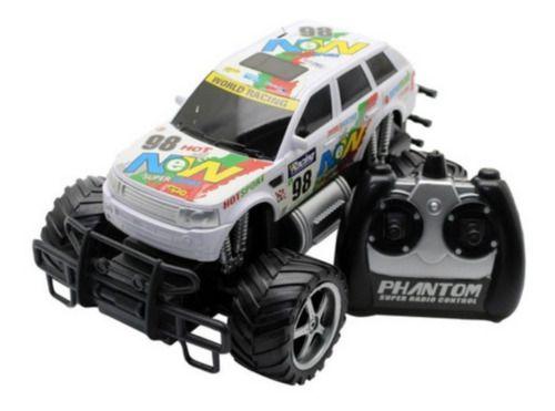 Carro RC Monster Truck Picape Corrida Branca