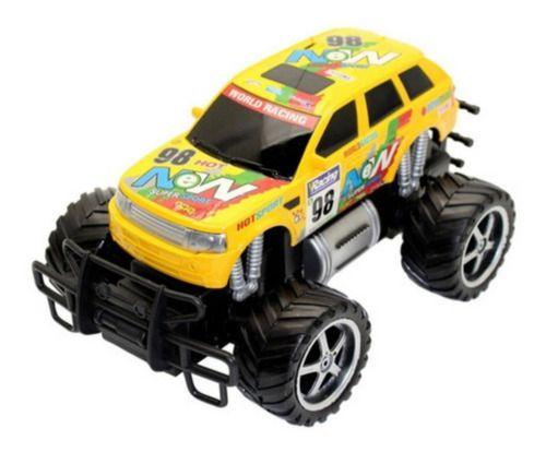 Carro RC Monster Truck Picape Corrida Amarelo