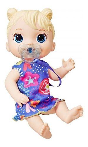 Boneca Baby Alive Bebê Primeiros Sons Loira Sons