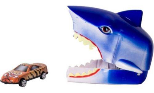Shark Turbo Tubarão Branco Lançador De Carrinho