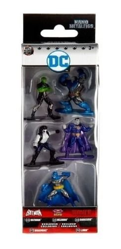 Nano Metalfigs 5 Batman Bizarro Darkseid Brainiac Lob