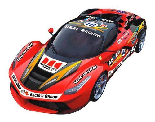 Carro RC Corrida 24 Horas De Le Mans Adesivo Vermelho