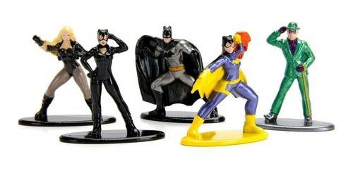 Nano Metalfigs Dc 5 Batman Batgirl Catwoman Canary Ridd