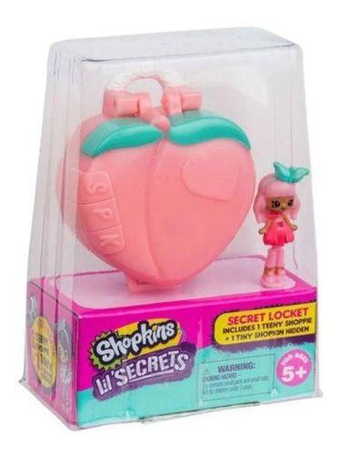 Micro Shopkins Secrets Coração Rosa Mini Boneca Pingente