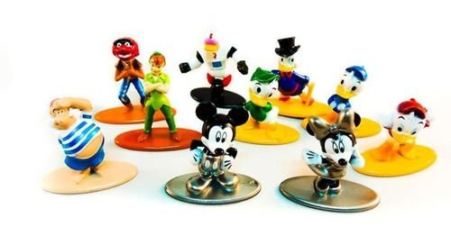Nano Metafigs Conjunto 10 Personagens Disney - Mickey