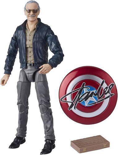 Boneco Stan Lee Marvel Legends Avengers Figura e Escudo