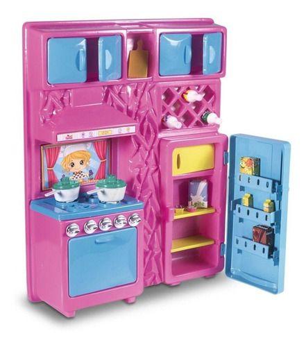 Cozinha Infantil Com Geladeira Fogão E Acessórios 45 Cm