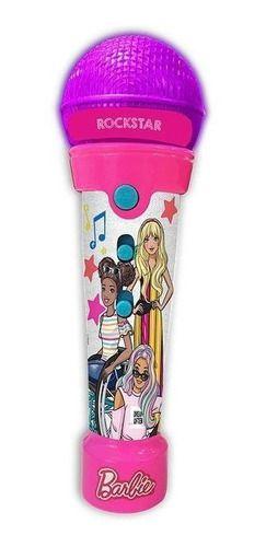 Barbie Microfone Rockstar C Funcao Mp3 Player Com Luzes
