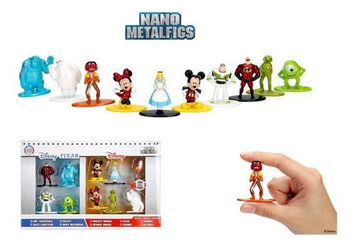 Metal Figure Nano Disney - Kit Com 10 Personagens