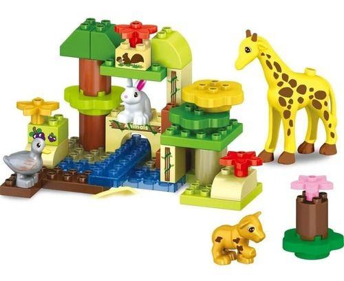 Blocos De Construção - Zoológico - 51 Peças - Com Som