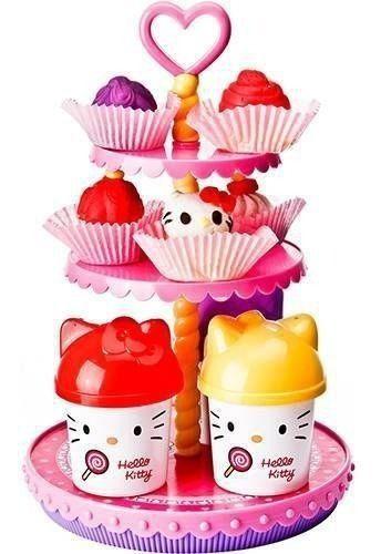 Kit Massinha De Modelar Hello Kitty Cupcakes Acessório