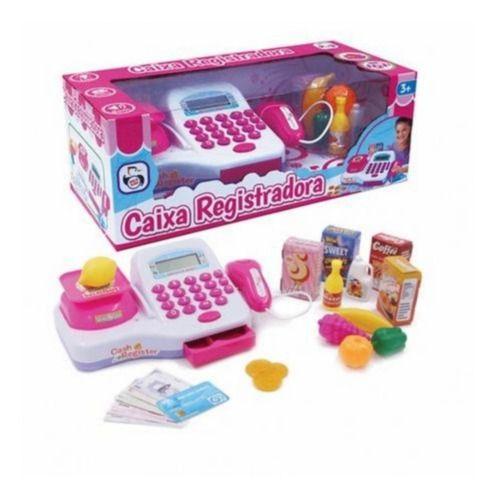 Caixa Registradora Infantil Som Luz Calculadora