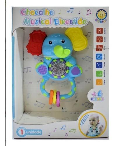 Chocalho Brinquedo Mordedor Divertido Musical Elefante