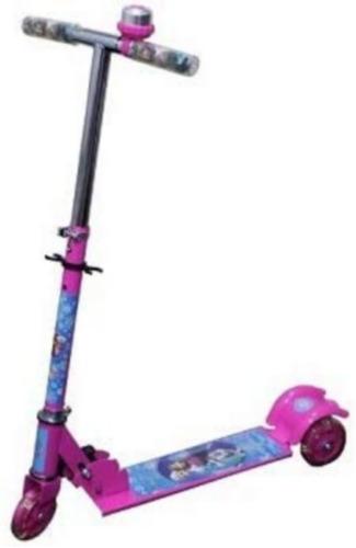Patinete Infantil Frozen 3 Rodas Com Luzes + Kit De Segurança
