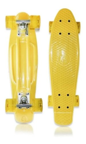 Skate Mini Cruiser Penny Fenix Infantil Criança Amarelo