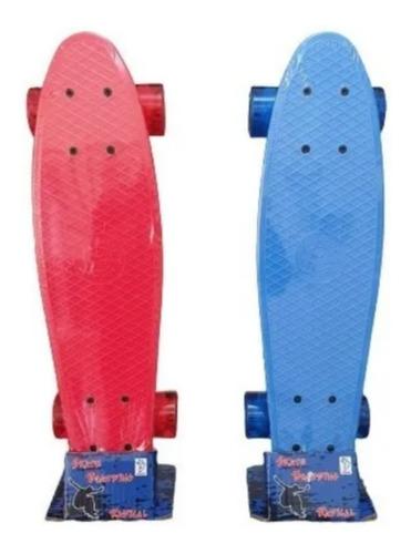 Skate Mini Cruiser Penny Fenix Infantil Criança Azul