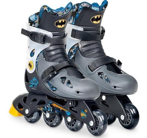 Patins Do Batman Ajustavel Com Kit De Segurança 33-36