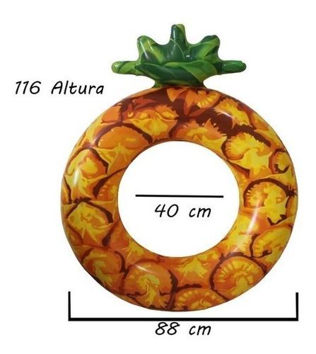 Boia Circular Divertida Inflável Abacaxi 1,80cm Flutuante