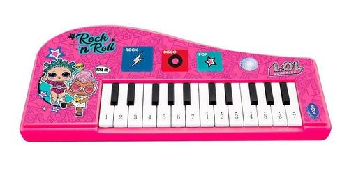 Piano Teclado Infantil Lol Surprise 14 Teclas Com Luz