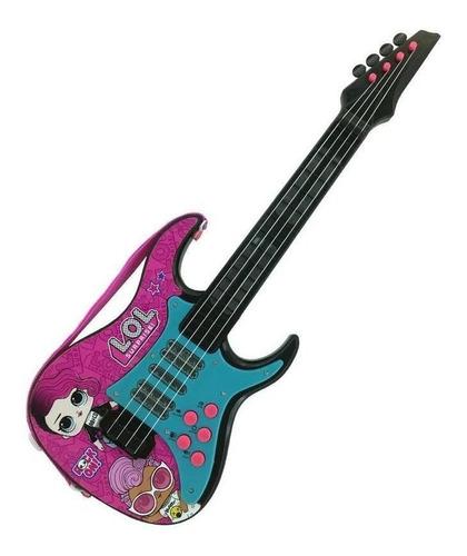 Guitarra Infantil Instrumento Musical Eletronica Lol Surpris