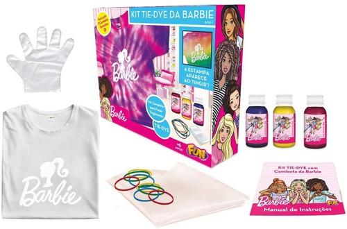 Kit Tie Dye Estampa Barbie Camiseta Tamanhos Variados