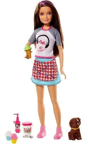 Barbie Boneca Skipper Criando Sorvete Com Filhotinho