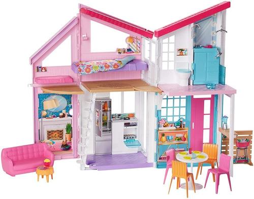 Barbie Casa Malibu De Luxo + Dobrável 25 Acessórios Original