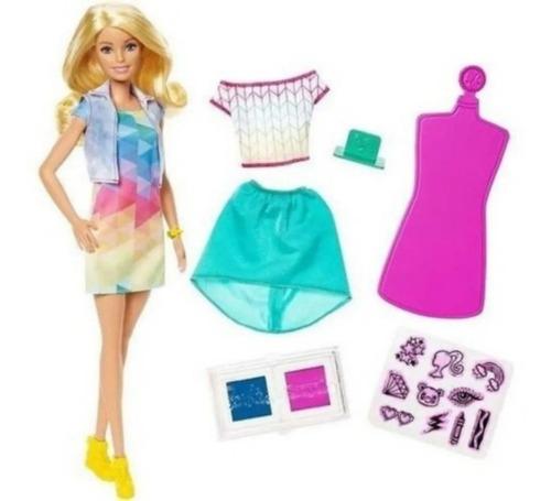 Barbie Crayola Estampa Criações C/ Carimbos - Roupa Colorida