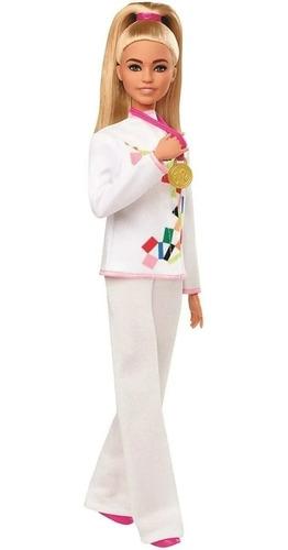 Barbie Karatê Tokyo 2020 Olimpíadas Mattel Medalhara De Ouro