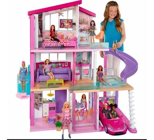 Barbie Mansão Casa Dos Sonhos C/ Som E Luzes 3 Andares Luxo