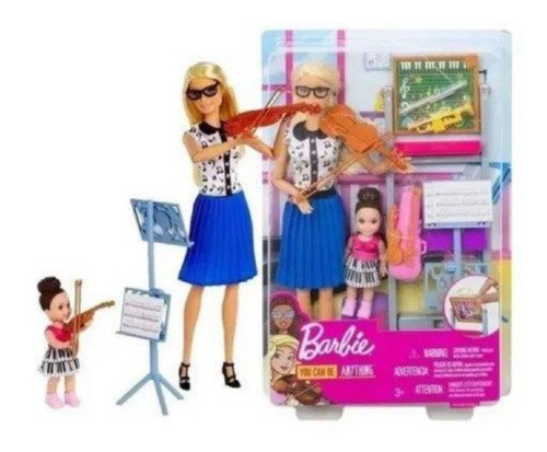 Barbie Professora Musica Violinista Com Aluna E Playset