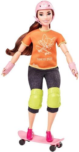 Barbie Skatista Tokyo 2020 Olimpíadas Medalhara De Ouro