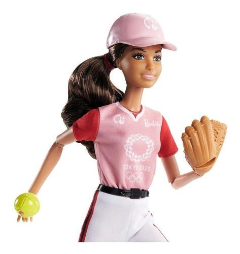 Barbie Softbol Morena Tokyo2020 Olimpíadas Medalhara De Ouro